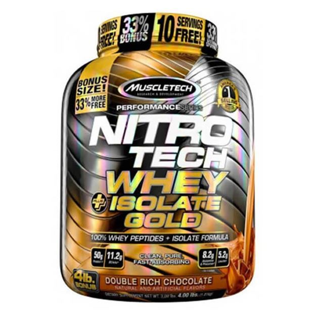 Picture of Muscletech Nitro Tech Whey Plus Isolate Gold